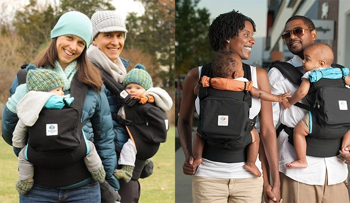 Couple-Babywearing-Twins
