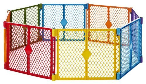 North States produces an aesthetically appealing, 8-panel, free-standing playard made right here in the United States.