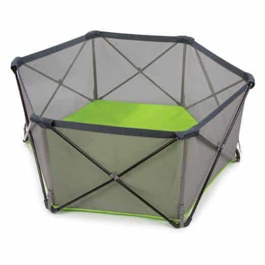 Summer Infant has created a great indoor/outdoor, roomy, 14 square foot playpen for your two peas in a pod.