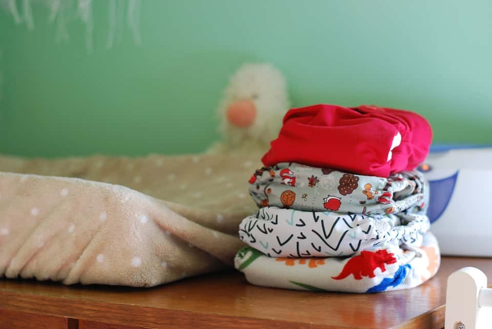 Stash of cloth diapers