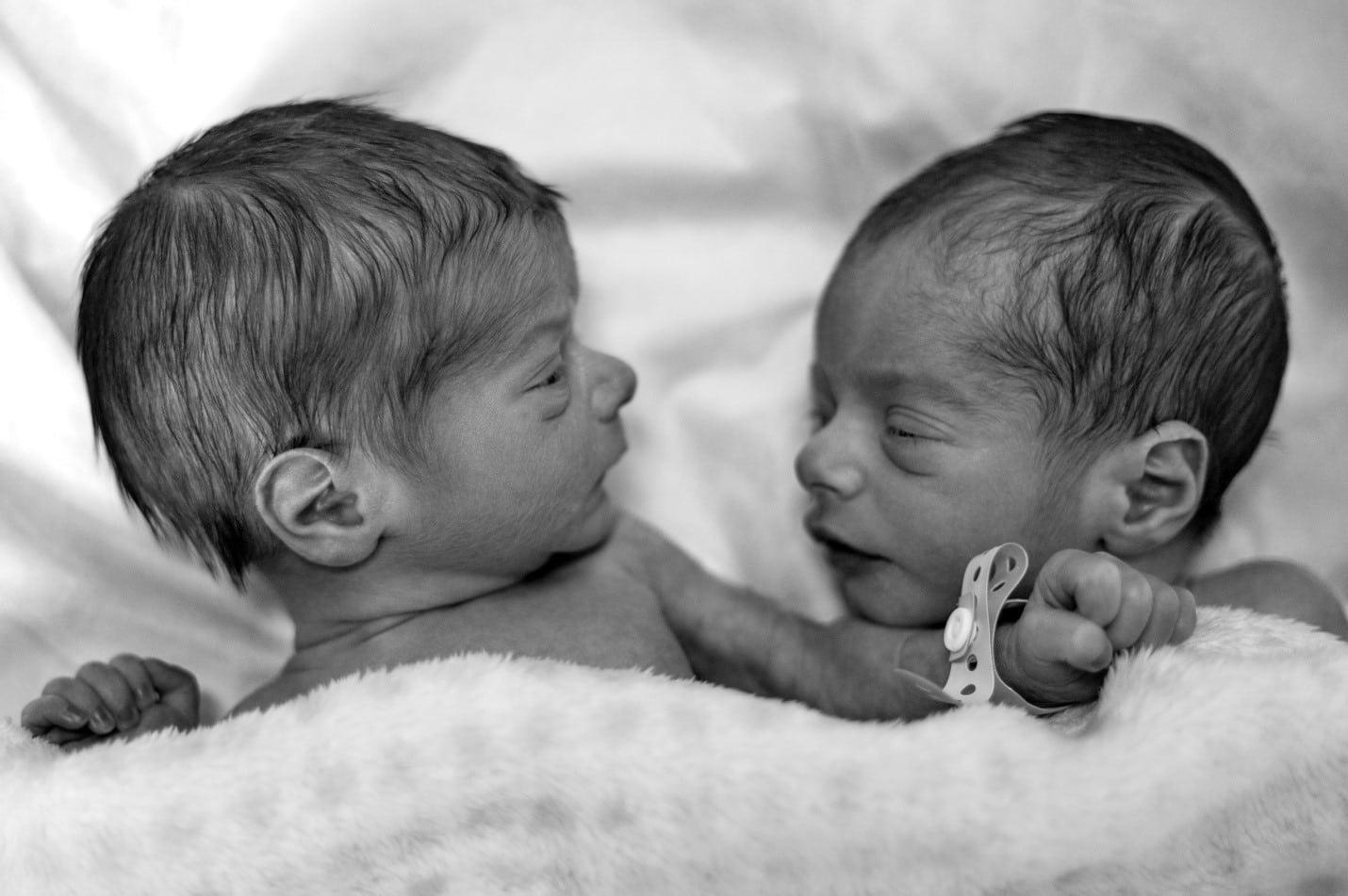 two newborn twins