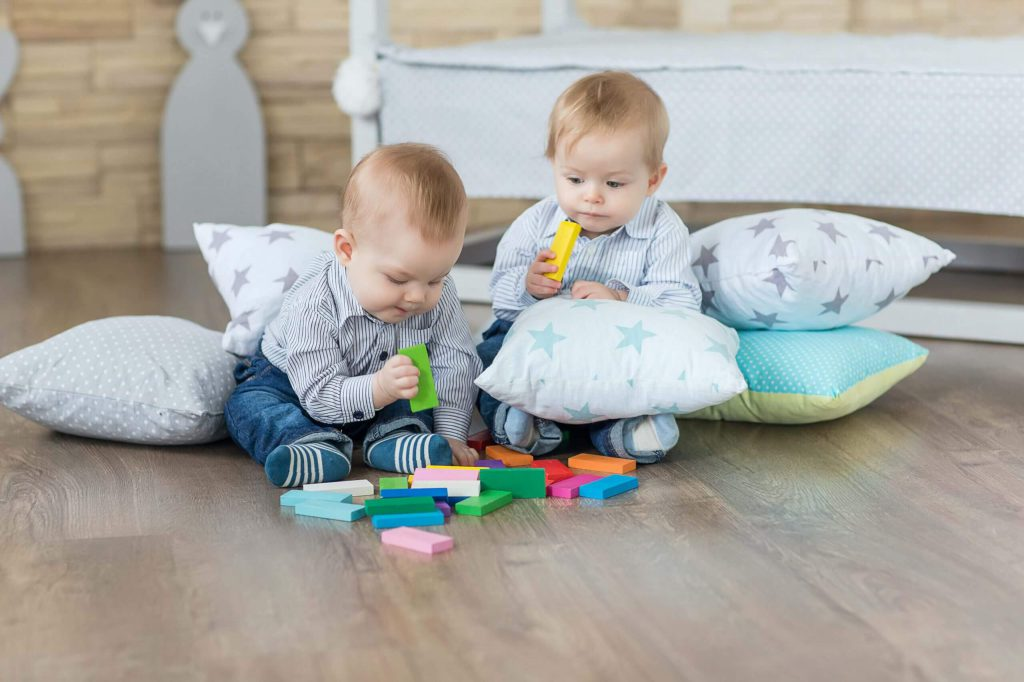 twins playing together